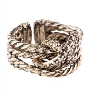 David Yurman sterling silver and diamonds ring
